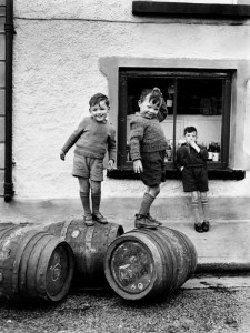 Young boys playing in Castlebar, 1952