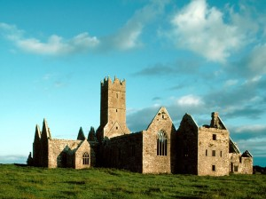 Ruins of Ross Abbey, Franciscan Friary, Founded in 1357, He